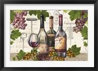 Framed Botanical Wine Landscape