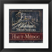 Framed Grand Vin Wine Label I
