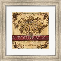 Framed Grand Vin Wine Label III