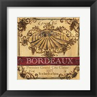 Framed Grand Vin Wine Label III