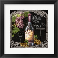 Framed Cafe de Vins Wine I