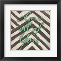 Framed Chevron Sentiments Teal I