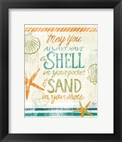 Coastal Sentiment I Framed Print