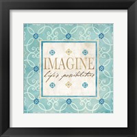 Blue Geo Sentiments II Framed Print