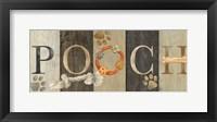 Pooch and Woof Sign I Framed Print