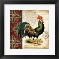 Framed Suzani Rooster I