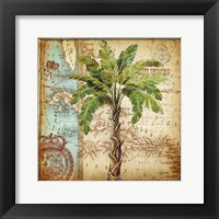 Antique Nautical Palms I Framed Print