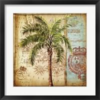 Framed Antique Nautical Palms II