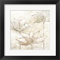 Framed Floral Sketch I