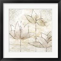 Framed Floral Sketch II