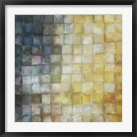 Framed Yellow Gray Mosaics I