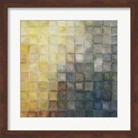 Framed Yellow Gray Mosaics II