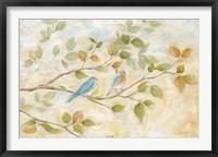 Framed Blue Birds Branch