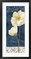Framed Paris Poppies Navy Blue Panel II