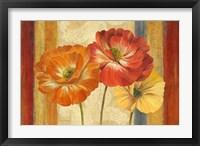 Framed Poppy Tapestry Stripes Landscape