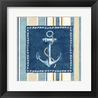 Framed Nautical Stripe III