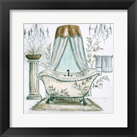 Framed French Bath Sketch I (tub)