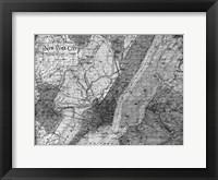Framed Environs NYC Gray