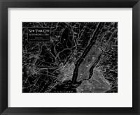 Framed Environs NYC Black
