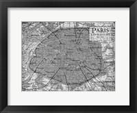 Framed Environs Paris Gray