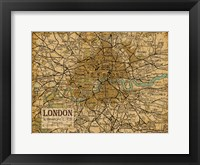 Framed Environs London Sepia