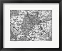 Framed Environs Rome Gray