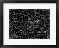 Framed Environs Rome Black