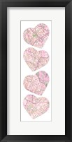 Map To  Your Heart  4 Framed Print