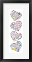 Map To Your Heart Manhattan Framed Print