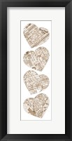 Map To Your Heart Manhattan 4 Framed Print