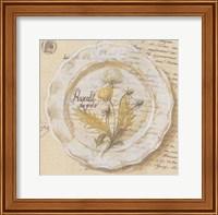 Framed Assiette, Pissenlit des prs