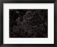 Eastern Map Framed Print