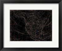 Western Map Framed Print