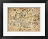 Vintage Map II Framed Print