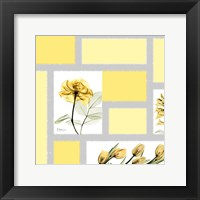 Framed Mondrian Flowers 1