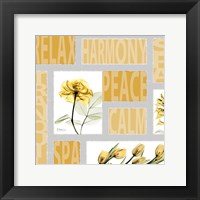 Framed Mondrian Flowers 3