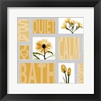 Framed Mondrian Flowers 4