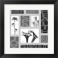 Framed Mondrian Black White 1
