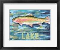 Framed High Country Lake