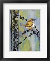 Framed Bird Song Buds I