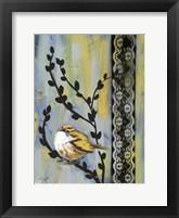 Framed Bird Song Buds II
