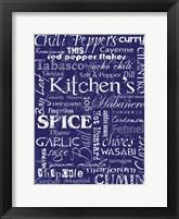 Framed Kitchen Spice Indigo
