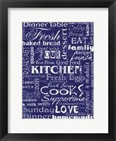 Framed Kitchen Cooks Indigo