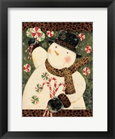 Framed Cheetah Snowman