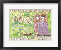 Framed Pastel Owl Family 3 Imagination Will Take You Everywhere