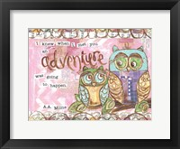 Framed Pastel Owl Family 6 I Knew When I Met You An Adventure