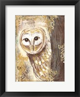 Framed Brown, Cream and Gold Owls 2