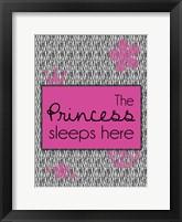 Princess Sleeps Framed Print