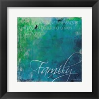 Framed Watercolor Family Quoted