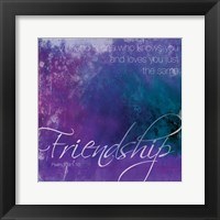 Watercolor Friendship Framed Print